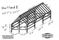 Hartland I  26 x 37, Common rafters, clear span